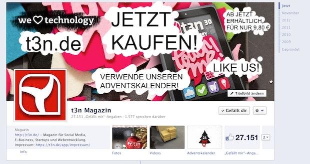 Facebook löscht Titelbilder bei Regelverstoß