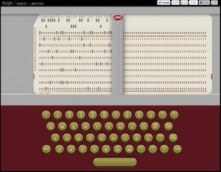 Google60: Lochkarten-Großrechner aus den 60ern in HTML5 nachgebaut