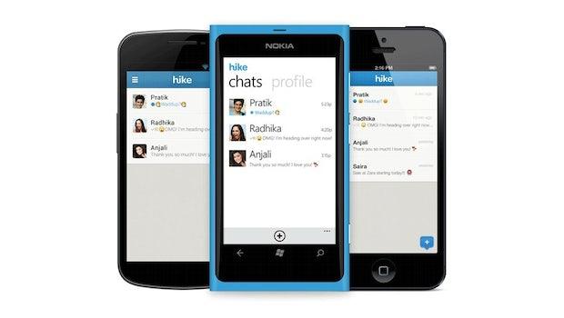 Hike ist 2012 gestartet und ebenfalls ein relativ neuer Player im Messenger-Milieu. Er will selbstredend auch als direkter Konkurrent gegen Whatsapp antreten und muss sich in Sachen Funktionsumfang keineswegs verstecken. Hike beherrscht Gruppenchats sowie das Versenden von Sprach-, Video- und Bildnachrichten. Der Messenger bietet hingegen nur eine 128-bit-SSL-Verschlüsselung. Hike-Apps gibt es für Android, iOS sowie Windows Phone, Symbian und Blackberry.  (Bild: Hike)