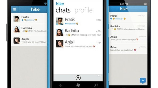 Hike: WhatsApp-Alternative für iOS, Android und Windows Phone. (Bild: Hike)