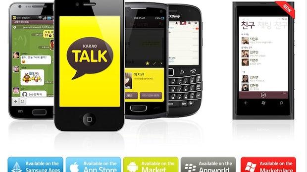 KakaoTalk: Der Dienst mit dem leckeren Namen ist vor allem in Südkorea weit verbreitet und zählt nach eigenen Angaben insgesamt über 140 Millionen Nutzer (Stand: Mai 2014) – ein Großteil ist allerdings im Heimatland des Dienstes verortet. Auch KakaoTalk bietet Apps für einen Großteil der verfügbaren mobilen Plattformen, von iOS, Android über Windows Phone zu Blackberry und Bada ist alles vertreten. (Bild: KakaoTalk)
