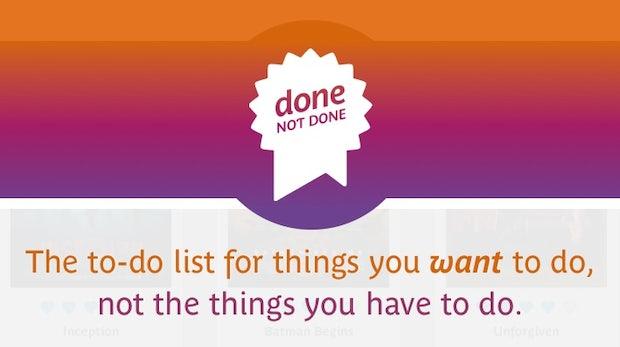 Done not Done: Die etwas andere ToDo-App für Bücher, Filme und Musik