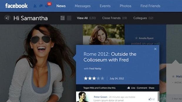 Facebook in schick - so könnte ein Redesign aussehen