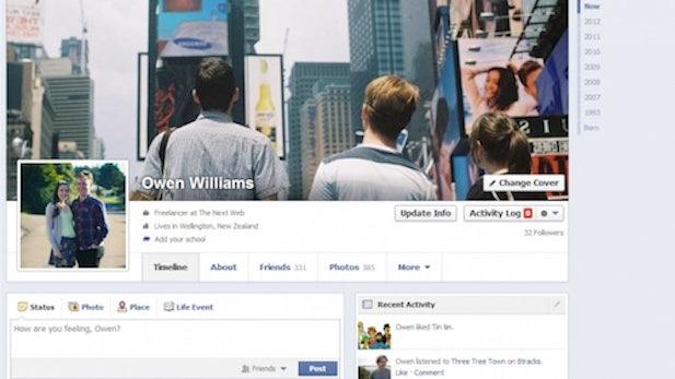 Facebook testet neues Chronik-Design