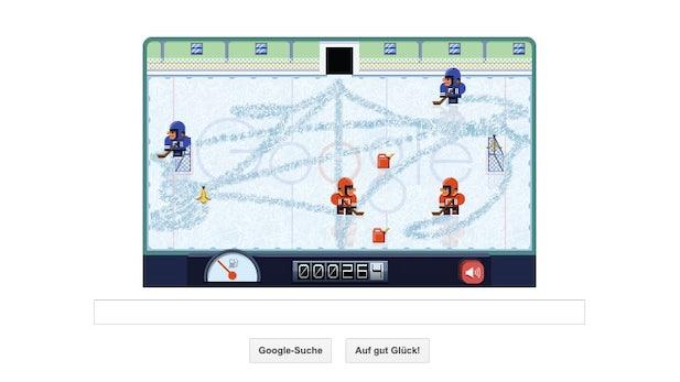Google-Doodle: Eisflächen präparieren und Punkte sammeln