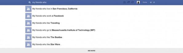 Semantische Suche: Facebook versteht und interpretiert die Suchbegriffe im Gegensatz zu einer klassischen Suchmaschine wie Google.