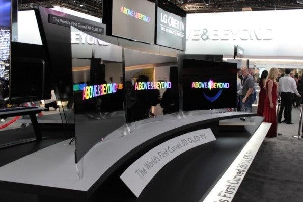Fernsehgeräte mit 4K-Auflösung oder gekrümmten Screens waren die Hingucker auf der CES 2013.