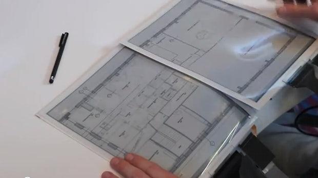 PaperTab: Flexibles E-Paper-Tablet aus Dresden [CES 2013]