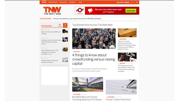The Next Web im Flat-Design