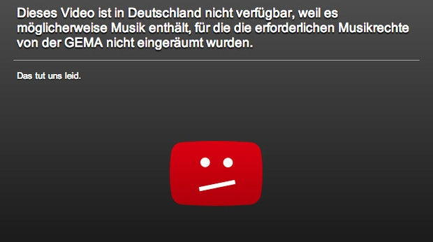 Lizenzstreit: 62% der Top-YouTube-Videos mit Sperrhinweis, GEMA reicht Klage ein