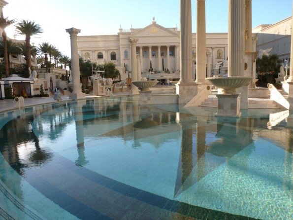 """Pool-Bereich des """"Caesar's Palace"""""""