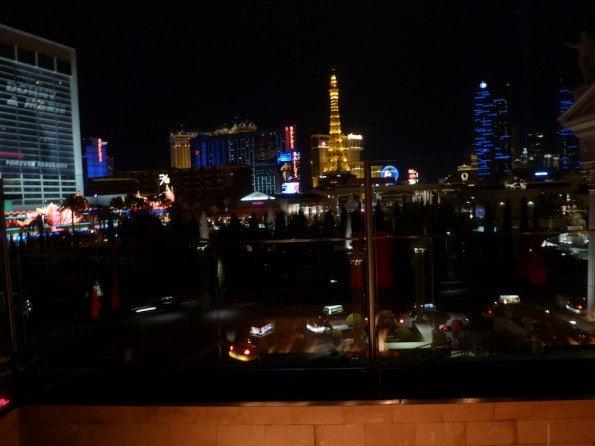 """Blick von der Terrasse der """"Attendee Party"""" auf Las Vegas"""