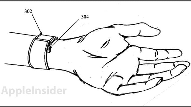 Apple iWatch: Patentantrag zeigt flexibles Display-Armband
