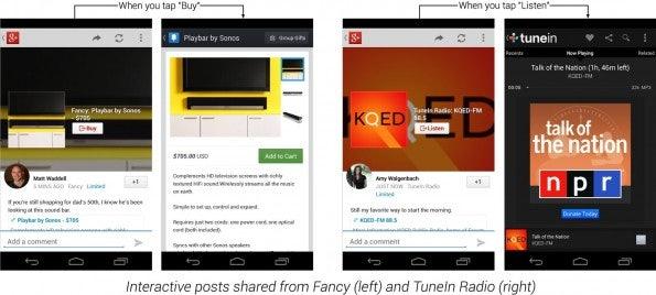 """Zwei Beispiele für """"Interactive Sharing""""."""