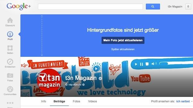 Google+ präsentiert neues Design von Profilen und Seiten