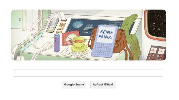 Google Doodle: Per Anhalter durch Douglas Adams' Galaxis