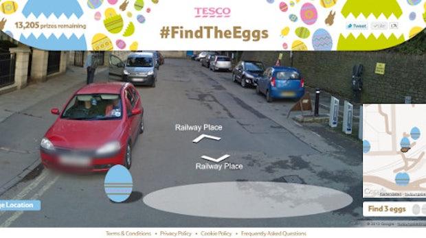 Tesco schickt User per Google Street View auf Ostereier-Suche