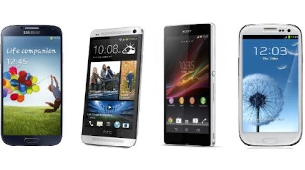 Samsung Galaxy S4 im Vergleich mit HTC One, Xperia Z und Galaxy S3