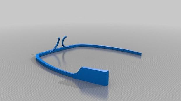 3D-Druck: Schon jetzt Google Glass auf der Nase