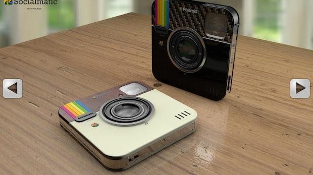 Die Instagram-Kamera soll die Vorteile alter Polaroids mit dem digitalen Fortschritt verbinden. Bild: Socialmatic.