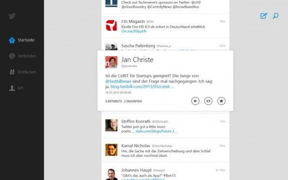 Die Twitter-App für Windows 8 ist nun endlich erschienen.