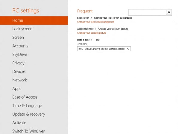Im Gegensatz zu Windows 8 finden sich mehr Einstellungen nun auch in der Touch-Oberfläche.
