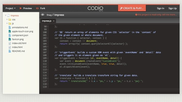 Codio: Schicke Cloud-IDE für Webentwickler