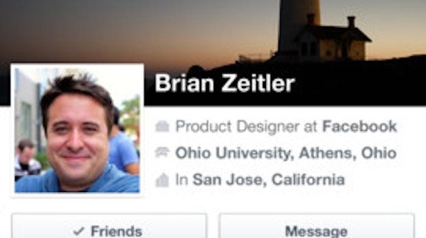 Facebook 6.0 - Profilansicht