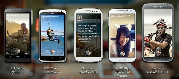 Diese Geräte sind zunächst mit Facebook Home kompatibel. Weitere sollen folgen.