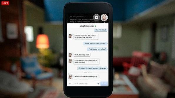 """""""Chat Heads"""" vereint Facebook Messenger und SMS in einem Overlay."""