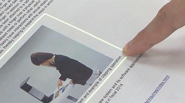 Fujitsu-Technologie macht aus jeder Oberfläche einen Touchscreen