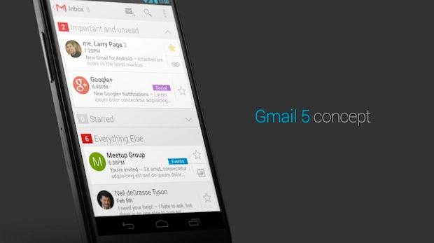 Gmail für Android: So könnte Version 5.0 aussehen [Konzept]