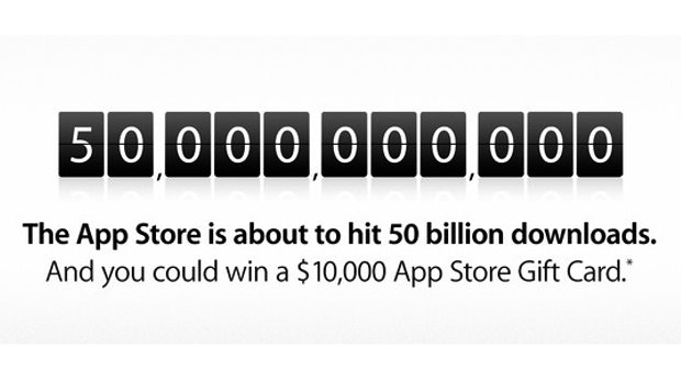 App-Store-Countdown: Apple verschenkt 10.000 Dollar für den 50-milliardsten Download