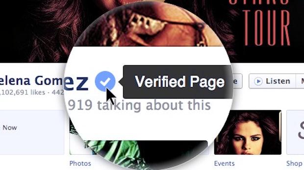 Facebook führt verifizierte Fanpages und Profile ein