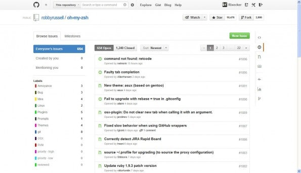 Die Issues-Page. (Screenshot: GitHub)