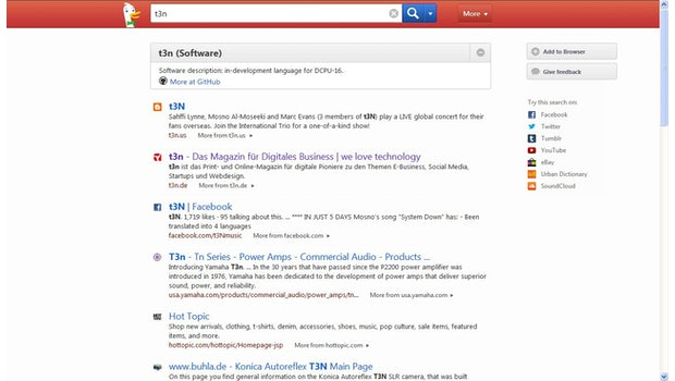 Duckduckgo: Die Google Alternative bricht derzeit alle Nutzerrekorde. (Screenshot: Duckduckgo)