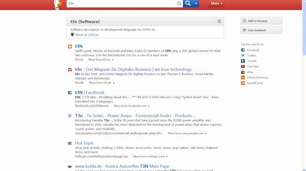 Duckduckgo: Die Google Alternative bricht derzeit alle Nutzerrekorde. (Screenshot: Duckduckgo)