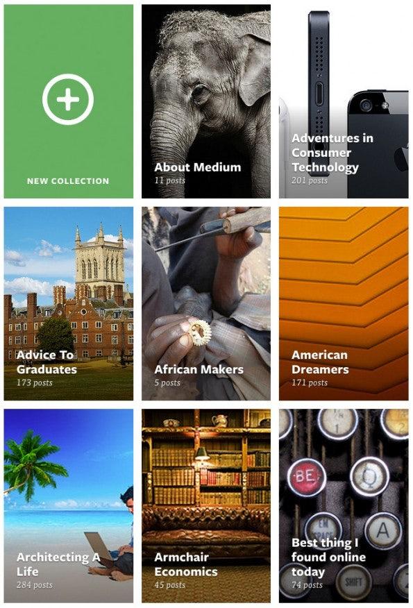 """Artikel auf Medium.com werden in """"Collections"""" kategorisiert."""
