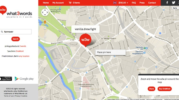What3Words: Geniales Location-Based Network nutzt Wörter statt Postleitzahlen