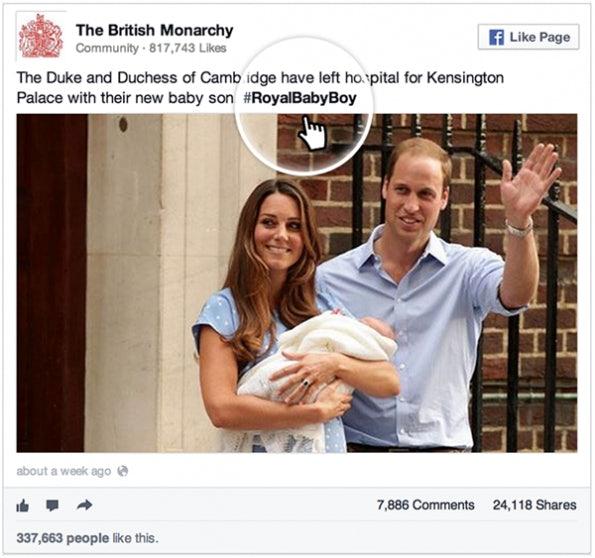 """Auch die neuen Hashtags werden in der Facebook-Einbetten-Funktion berücksichtig. (Bild: <a href=""""http://newsroom.fb.com/News/681/Introducing-Embedded-Posts"""">Facebook Newsroom</a>)"""