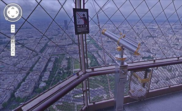 """Mit Blick auf den Marionnettes du Champ de Mars. (Screenshot: Google <a href=""""https://maps.google.com/?q=Eiffelturm,+Paris&ll=48.858306,2.294254&spn=0.016461,0.042272&hq=Eiffelturm,+Paris&t=m&z=15&layer=c&cbll=48.858294,2.294359&panoid=jk_uQhm-apj-LegVyY7jsQ&cbp=12,223.95,,0,2.08"""">StreetView</a>)"""