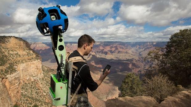 Street View Trekker: Google verleiht Kamera-Rucksäcke für Street View
