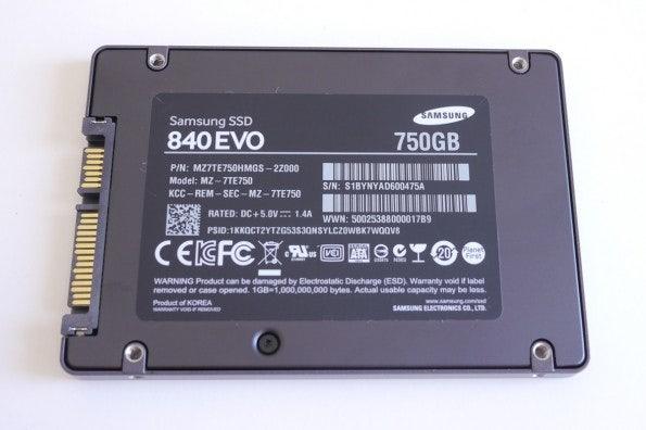 Wolf im Schafspelz: Die unscheinbare Samsung SSD 840 EVO in der 750-GByte-Variante.