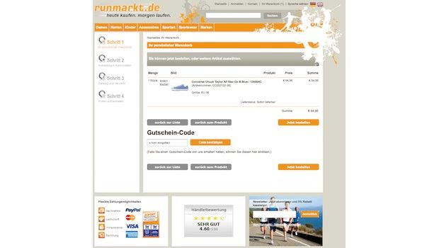 (Screenshot: runmarkt.de)