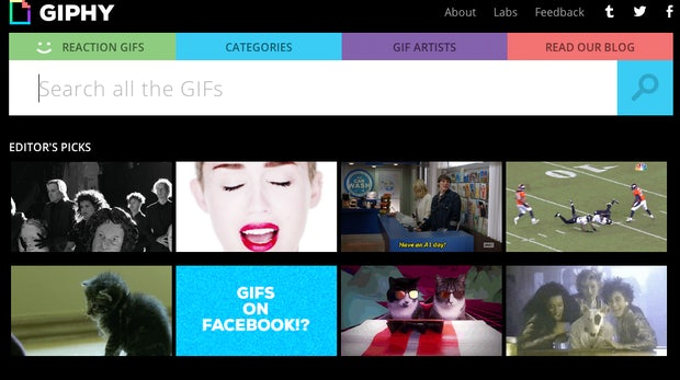 Animierte GIFs auf Facebook posten? Kein Problem mit Giphy