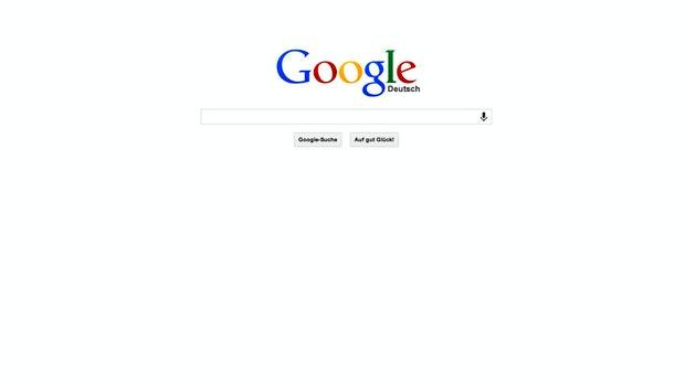 Das neue Google-Logo in Kombination mit dem Icon im Flat-Design sorgt für einen sehr schlichten Look der Startseite.