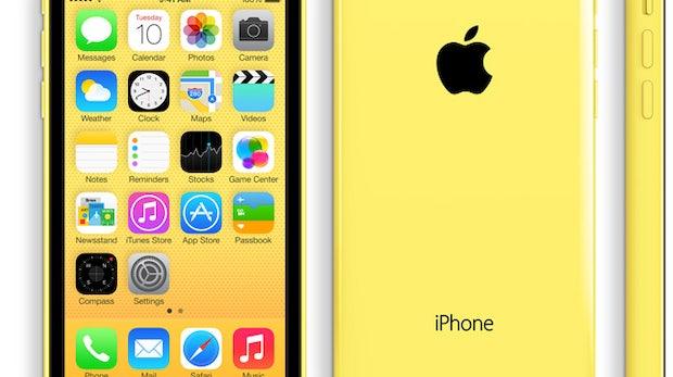iPhone 5c: So sieht es in Gelb aus. (Bild: Apple)