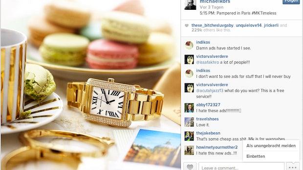 Erste Native-Ad im Instagram-Newsfeed veröffentlicht – viermal so viele Likes, massig Kritik