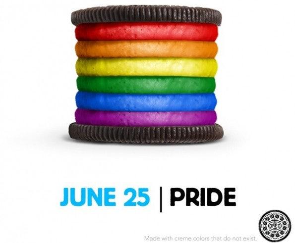 "Social-Media-Kampagne: Oreo hat für den ""Gay Pride Day"" einen Keks im Regenbogen-Look konzipiert. (Screenshot: <a href=""http://www.oreo.com/dailytwist/"">Oreo</a>)"