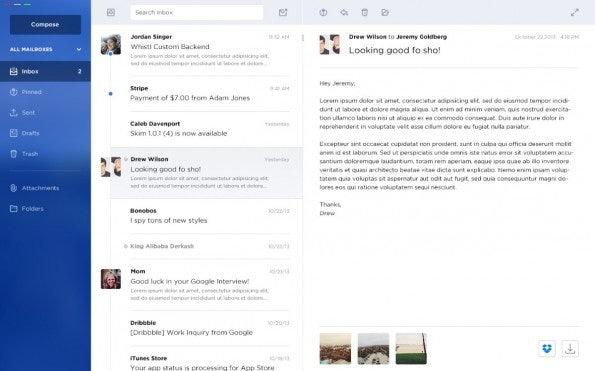 So stellen sich die Macher den E-Mail-Client der nächsten Generation vor. (Bild: Jeremy Goldberg)